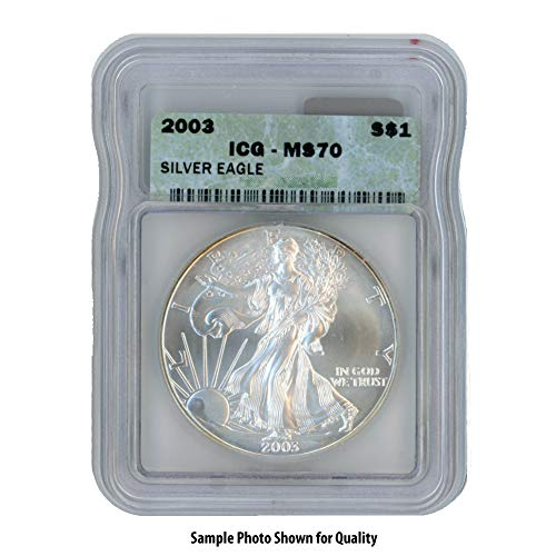 2003 American Silver Eagle $1 MS70 ICG