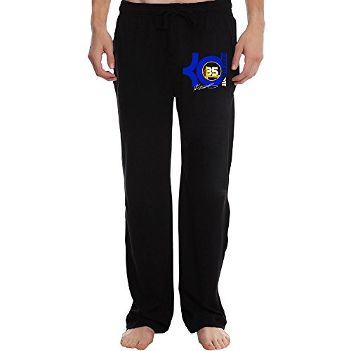 Price comparison product image PTR Men's Golden State 35 KD Basketball Player Running Pants Color Black Size XXL