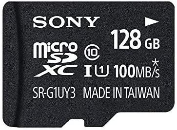 Sony SRG1UYA 128GB MicroSDXC Clase 10 Memoria Flash - Tarjeta De Memoria (128 GB, MicroSDXC, Clase 10, 90 MB/s, Negro)