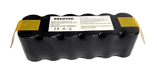 Upgraded 4500mAh iRobot Replacement Battery Compatible with Roomba 500 600 700 800 900 Series 510 530 531 535 536 550 552 560 580 595 620 630 650 660 760 770 780 790 870 880 900 R3 Scooba Robots