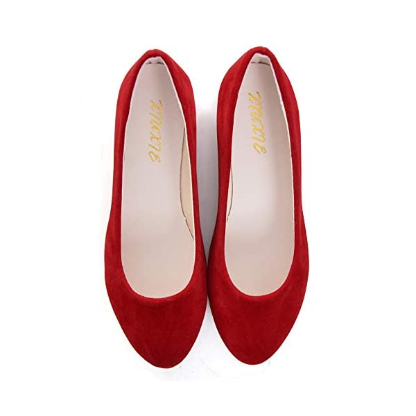 Stunner Women Cute Slip-On Ballet Shoes Soft Solid Classic Pointed Toe Flats