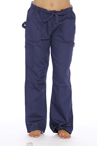 (24000PNVY-12-1X Just Love Women's Utility Scrub Pants / Scrubs, Navy Utility With Floral,)