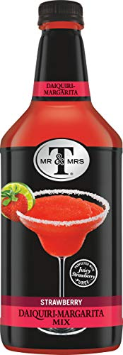 Mr & Mrs T Strawberry Daiquiri-Margarita Mix, 1.75 Liter Bottle (Pack of 6)