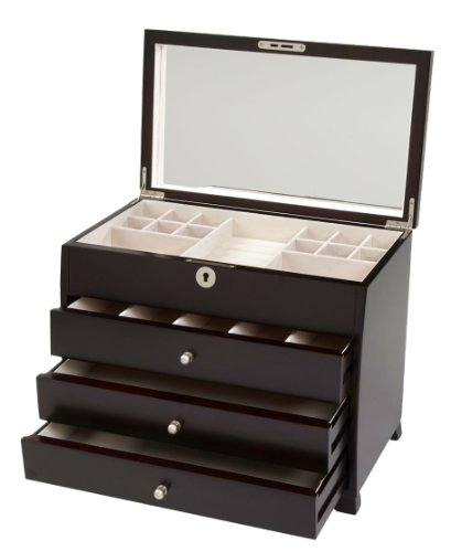 Seya Espresso Wooden Jewelry Box (13.5'' L X 8'' W X 11'' H) by Seya (Image #2)