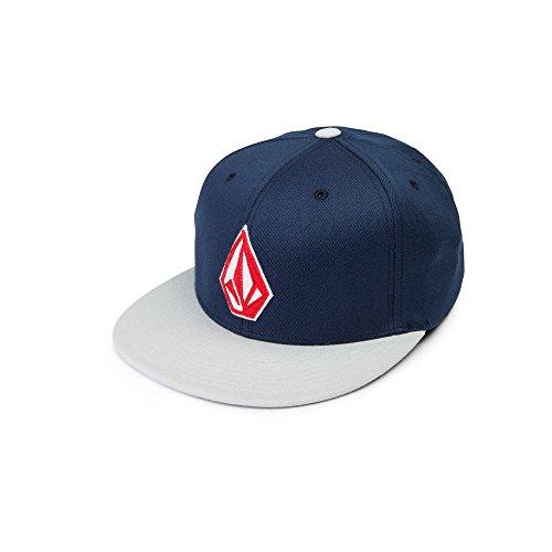 Volcom Men's Stone Stack Jfit Hat, Navy, S/M