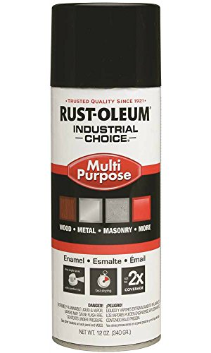 Rust-Oleum Industrial 1600 System General Purpose Enamel Aerosol, Safety Red 16 oz. Can - Lot of 6