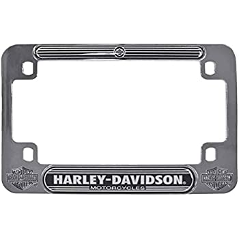 Amazon Harley Davidson Black License Frame With Skull And