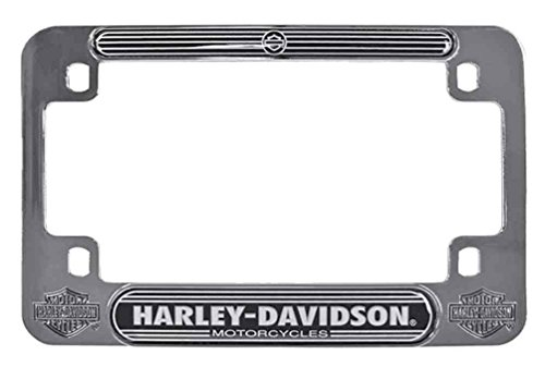 Harley-Davidson H-D Script Chrome Motorcycle Plate Frame, 7.5 x 5 inches MF02206 (Chrome Motorcycle Frames)