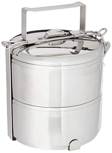Zebra brand, Stainless steel food carrier 14cm x 2 tier premium quality
