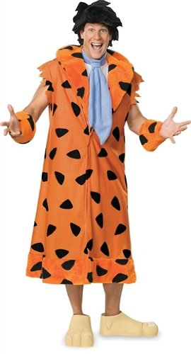 Fred And Wilma Flintstone Costumes (The Flintstones Fred Costume, Orange/Black, X-Large)