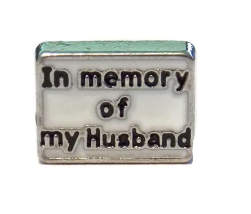 In Memory of My Husband Charm for Floating Lockets - Old School Geekery Brand Locket Charms - Military Spouse Gift ()