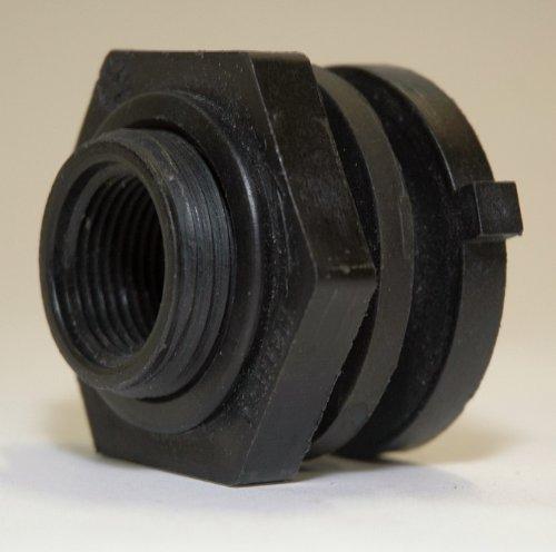 (UltraTech 1473 Fluorinated Bulkhead Fitting, 3/4