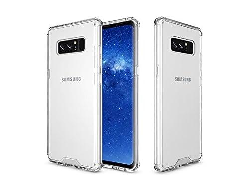 Samsung Galaxy Note 8 Case, GPROVA [Drop Protection][Slim Thin] Flexible TPU Gel Rubber Soft Skin Silicone Protective Case Cover Samsung Galaxy Note 8 (Clear (Speck Like Iphone 5s Case)