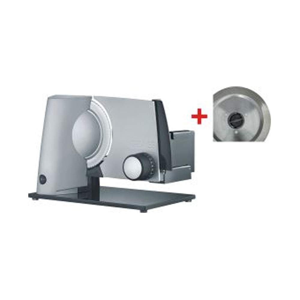 Graef E 32020/Elektro 170/W Metall grau Aufschnittmaschine Allesschneider, Metall, Grau, 237/mm, 343/mm, 252/mm, 393/mm