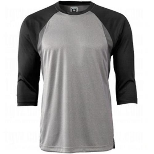 Champro大人用Extra Innings 3 / 4スリーブベースボールシャツ B00GG4FLB2 M|ブラック ブラック M