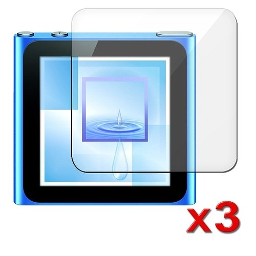 3 x LCD Screen protector Guard Compatible With iPod Nano 6G 6th Gen eForCity 336473 VFB-21-APL-NAN-6G-3P-A02