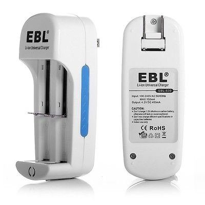 New EBL Battery Charger For 14500 16340 10440 18500 18650 Li-ion Lithium Battery