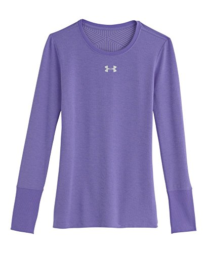 Under Armour Girls' UA ColdGear Infrared Crew Youth Large FLAX by Under Armour