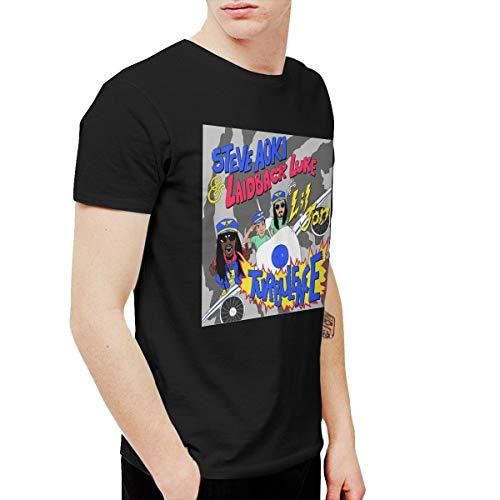 Rvfgedbvff Steve Aoki Turbulence Men's Short Sleeve T-Shirt Black -