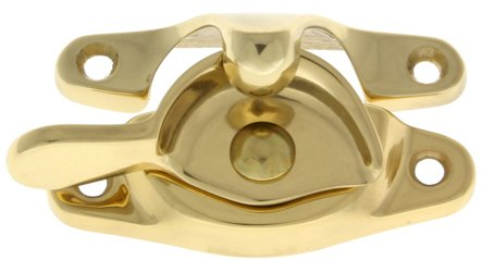 Professional Grade Quality Large Sash Catch (Polished Brass No Lacquer)