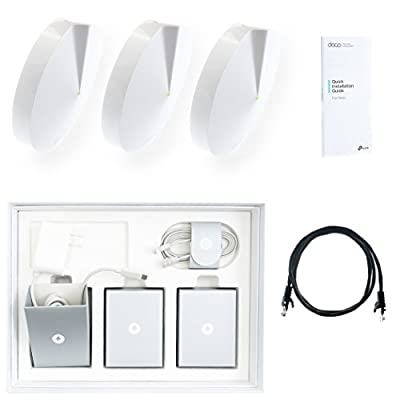 TP-Link Deco Whole Home Mesh WiFi System (3-Pack) - Replace WiFi Router and Range Extenders, Simple Setup, Works with Amazon Alexa, Up to 4,500 sq. ft. Coverage (M5) with BONUS 3' Cat5e Cable