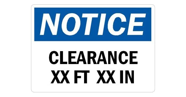 Amazon.com: Aviso: Clearance XX ft XX en cartel, 18
