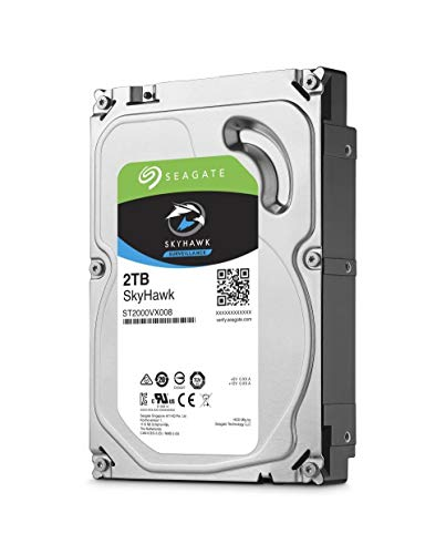 Seagate SkyHawk 2TB Surveillance Internal Hard Drive HDD - 3.5 Inch SATA 6Gb/s 64MB Cache for DVR NVR Security Camera System with Drive Health Management (ST2000VX008)