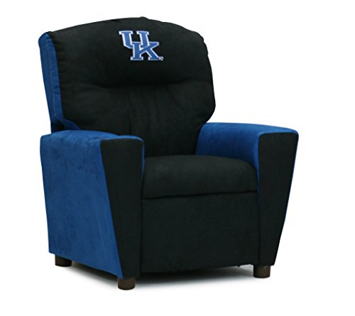 ASPEN TREE INTERIORS Childrens University of Kentucky Wildcats Recliner Chair With Cup Holder - Upholstered Reclining Armchair For the Young Sports Fan ()