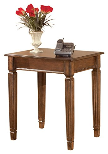Ashley Furniture Signature Design - Hamlyn Corner Table - Rustic Finish - Medium Brown by Signature Design by Ashley