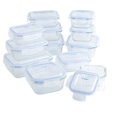 VonShef 12-Piece Glass Container Food Storage Set