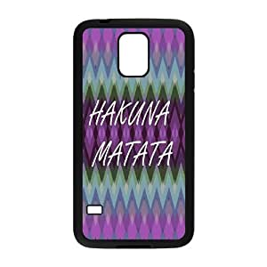 Best Quality [LILYALEX PHONE CASE] Hakuna Matata With Good Luck For Samsung Galaxy S5 CASE-1