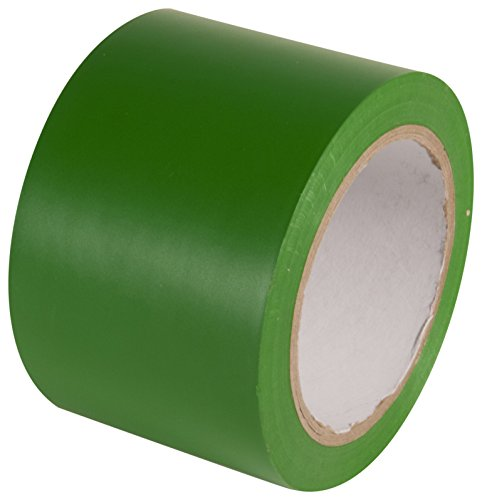 INCOM Manufacturing: Vinyl Aisle Marking Conformable Tape, 3 x 180, Safety Green- Ideal for Walls, Floors, Equipment