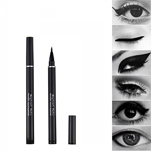Black Eyeliner Pen 2 PCS Magical Halo Black Liquid Eyeliner Pen