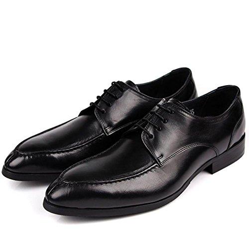 Herren England Leder Pointy Business Oxford Schuhe Black