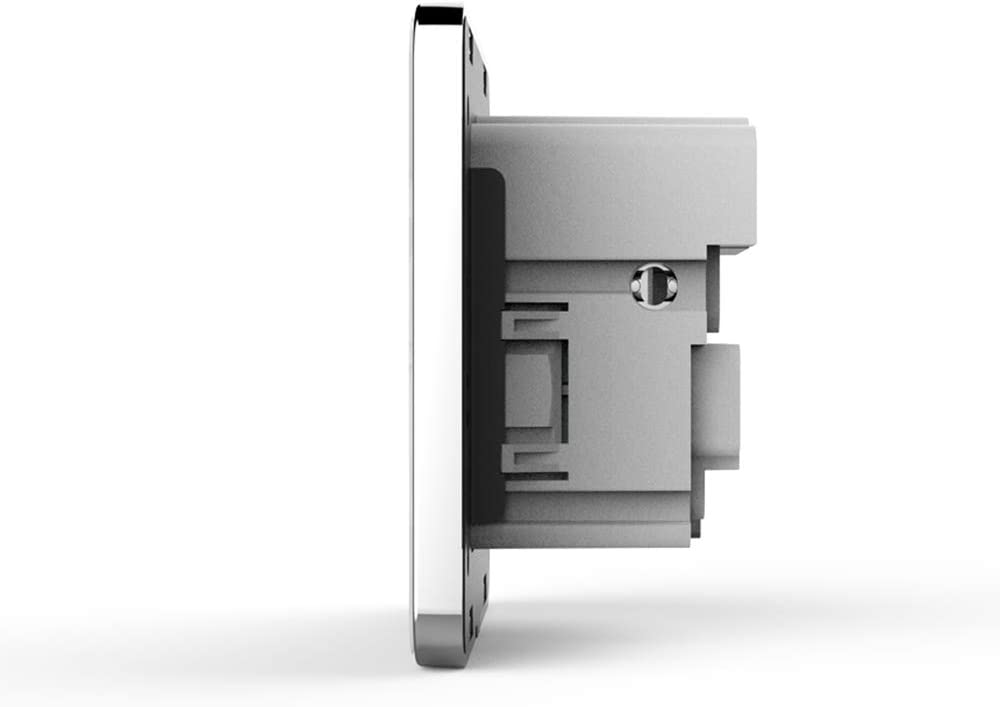ROZIN Panneau De Verre en Cristal Blanc 2A Double Port USB Adaptateur De Chargeur Mural Prise De Charge avec Adaptateur Mural USB Prise De Courant,dor