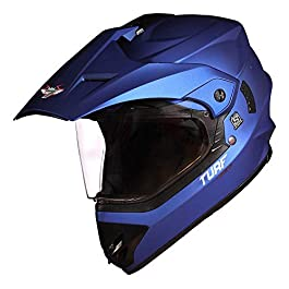 Steelbird Off Road TURF Motocross Helmet Men (Large 600 MM, Matt Y.Blue Aerodynamic Helmet for Man Adventure Off-Roading…