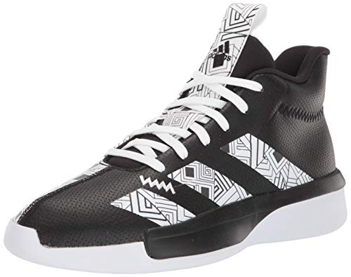 adidas Men's Pro Next 2019 Basketball Shoe, Black White, 9.5 M US