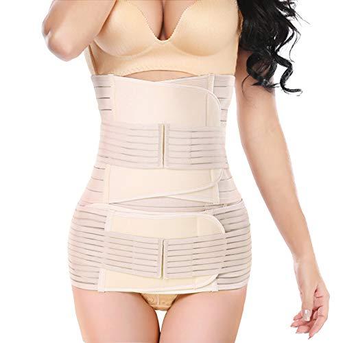 3 in 1 Postpartum Belly Wrap, lifecolor Postpartum Belly Girdle Support Recovery Waist Pelvis Belt, Body Shaper Postnatal Shapewear