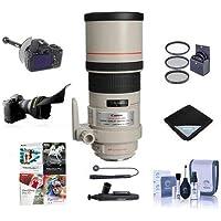 Canon EF 300mm f/4L IS USM Image Stabilizer AF Telephoto Lens USA - Bundle with 77mm Filter Kit, DSLR Follow Focus & Rack Focus, Lens Wrap, Flex Lens Shade, Lens Cap Leash, Cleaning Kit, And More