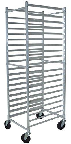 BK Resources BK-ABPR-1 Front Load Aluminum Commercial Square Top Bun Pan Rack 20-1/4