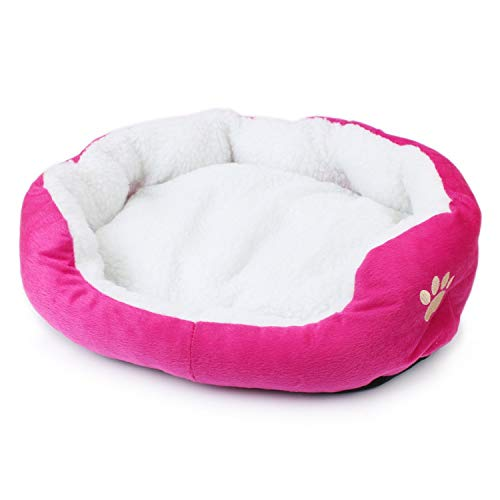 Little-Hope Dog Bed Sofa Mat Kennel Doggy Warm House Winter Cot Pet Sleeping Bed House for Puppy Small Dog Blanket Cushion Supplies65,Pink,50x40cm (50 Sonnenbrillen)