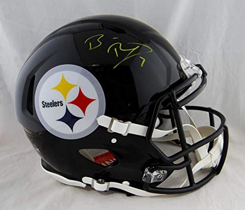 Ben Roethlisberger Autographed Pittsburgh Steelers F/S Speed Authentic Helmet- Fanatics Auth Yellow