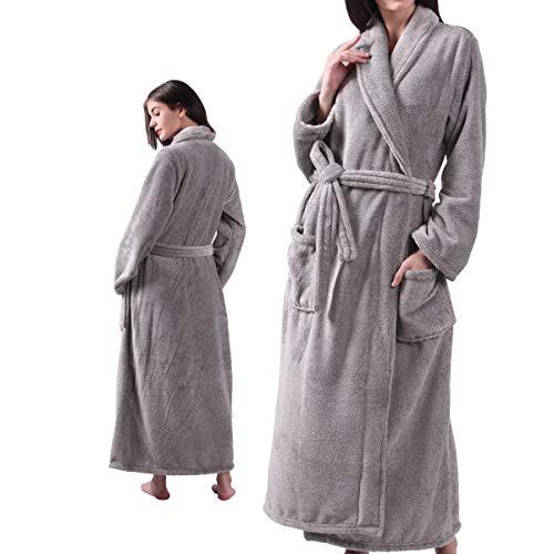 ALL AOER Bathrobe for Womens, Fleece Flannel Ladies Robes, Warm Cozy Lightweight (Cozy Flannel)