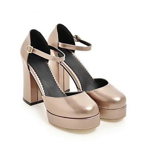 Sandaletten Gold BalaMasa High Urethansandalen ASL04839 Heel Damen Huarache 5pwvOFqUw