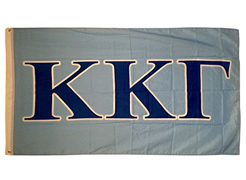 Kappa Kappa Gamma Letter Sorority Flag Greek Letter Use as a Banner Large 3 x 5 Feet Sign Decor ()