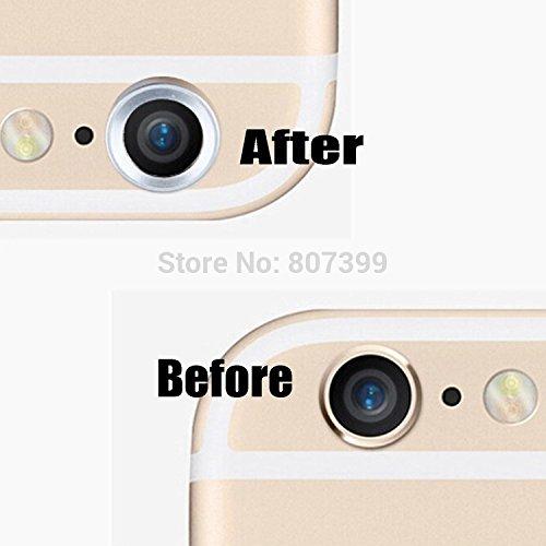Cool Metal trasera cámara lente protector anillo protector círculo ...