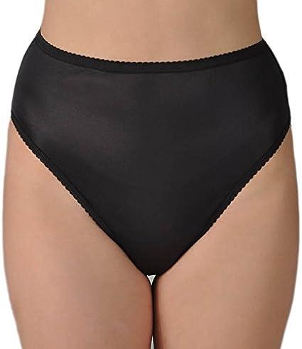 6c4efb034fd Shadowline Nylon Classics Hi-Leg Brief Panty (17842) at Amazon Women s  Clothing store