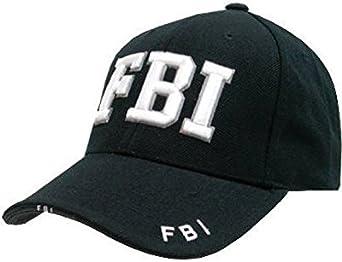 Gorra de béisbol Mlitary Combat Negro SWAT FBI para Hombre Negro ...