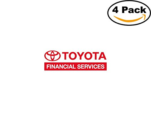 Toyota Financial Services 4 Stickers 4X4 Inches Car Bumper Window Sticker Decal