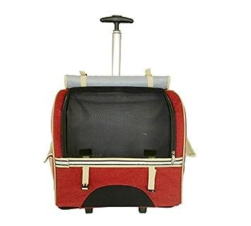 transportin carrito perro trolley Portable Removable mochila perro pequeño 600D Oxford , Red: Amazon.es: Productos para mascotas